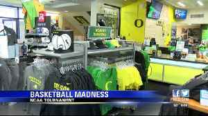 NCAA tournament swag now being sold at The Duck Store. [Video]
