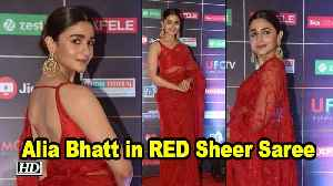 Alia Bhatt Turns HEAD in RED Sheer Saree [Video]