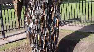Imposing sculpture made from 100,000 knives arrives in Coventry [Video]