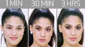 Ariana Grande's Look in 1 Minute, 30 Minutes, and 3 Hours - Makeup Challenge [Video]