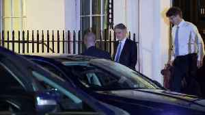 News video: Hammond leaves Downing Street for Commons