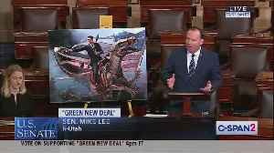 Mike Lee whips out hilarious picture during Green New Deal discussion on Senate floor [Video]