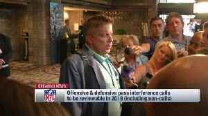 New Orleans Saints head coach Sean Payton reacts to rule change that allows non-PI calls to be challenged [Video]