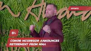 News video: Conor McGregor Says Thanks For The Cheese And Signs Out