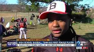 First girl to join City College HS baseball team is excelling in the game [Video]