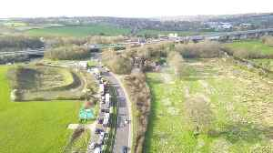 News video: Drone footage of M25 closed following serious crash