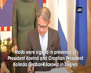 India Croatia sign MoUs in presence of President Kovind and Croatian President [Video]