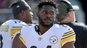 Oakland Raiders wide receiver Antonio Brown reacts to Pittsburgh Steelers wide receiver JuJu Smith-Schuster's comments on Ben Ro [Video]