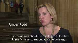 Rudd: May stepping down will sway Tories to vote for Brexit deal [Video]