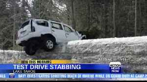 Driver stabs car salesman during test drive [Video]