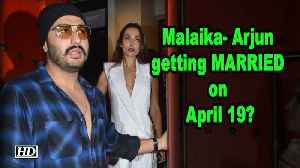 Malaika- Arjun getting MARRIED on April 19? [Video]