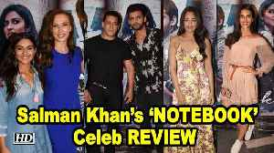 Salman Khan's 'NOTEBOOK' Celeb REVIEW  | Zaheer- Pranutan [Video]