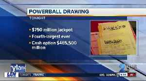 Powerball drawing with $750-million top prize, 4th highest in U.S. history [Video]
