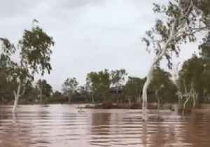 Floodwaters Turn Red After Dusty Boodarie Cops Cyclone Veronica Drenching [Video]