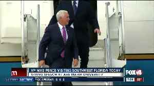V.P. Mike Pence will give a speech at Ave Maria University in Collier County [Video]