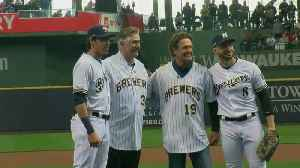 All 4 Milwaukee Brewers MVPs took part in Opening Day first pitch [Video]