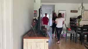 Two Daughters and Best Friend Scare Mom with Surprise Visit [Video]