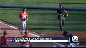 Miami defeats FAU baseball 3/27 [Video]