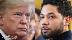 Trump Responds to Jussie Smollett's Dropped Charges, Says FBI & DOJ Will Review Case | THR News [Video]