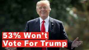 News video: More Than Half Of Americans Say They Definitely Won't Vote For Donald Trump