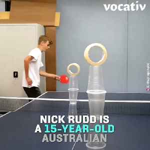 This 15-Year-Old is The King of Ping Pong Trick Shots [Video]
