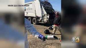 Preliminary Investigation Indicates Oxygen Tank Caused Trash Truck Explosion, Officials Say [Video]