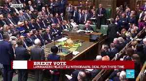 Brexit vote: Lawmakers reject EU withdrawal deal for third time [Video]