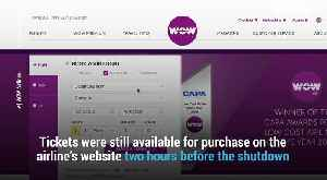 Wow Air Just Shut Down, Stranding Passengers and left them stranded without refunds [Video]