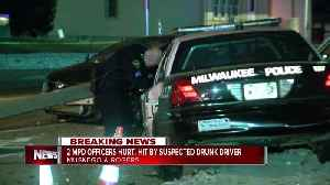 Two Milwaukee Police officers hurt after suspected drunk driver strikes squad car [Video]
