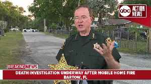 Death investigation underway in Polk Co. after mobile home fire | Press Conference [Video]