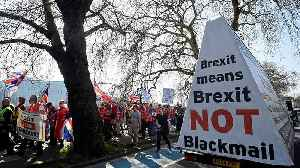 Brexit supporters demand a quick way out of the EU in pro-Brexit march [Video]