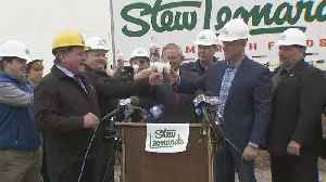 Web Extra: Stew Leonard's Breaks Ground On Dairy Store [Video]