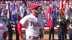 VIDEO Bryce Harper helps welcome new era of Phillies baseball [Video]