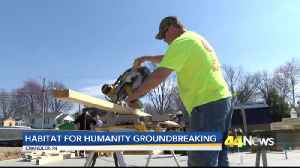 Habitat for Humanity Breaks Ground on New Home [Video]