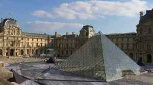 French artist reveals Louvre pyramid's secrets with giant collage [Video]