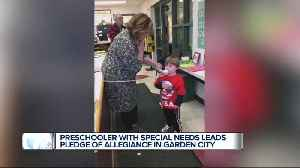 3-year-old is first special needs preschooler to lead the Pledge of Allegiance at Garden City school [Video]
