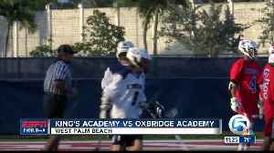 Oxbridge Academy defeats King's Academy lacrosse 3/29 [Video]