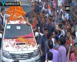 Priyanka Gandhi Vadra holds mega roadshow in UPs Ayodhya [Video]