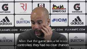 Guardiola amazed by his players' performance after 2-0 Fulham win [Video]