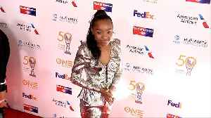 Saniyya Sidney 50th NAACP Image Awards Non-Televised Dinner Red Carpet [Video]