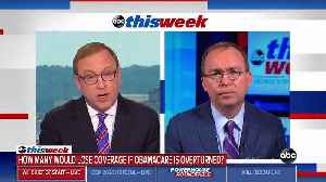 Mulvaney Guarantees Americans Covered Under Obamacare Won't Lose Coverage Under Potential Trump Plan [Video]