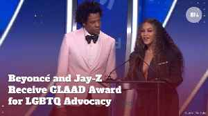 Jay-Z And Beyonce Pick Up Their GLAAD Award [Video]
