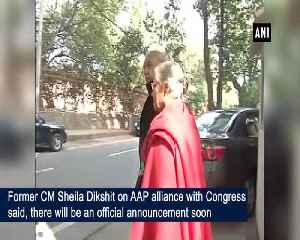There will be an official announcement soon Sheila Dixit on Congress AAP alliance [Video]