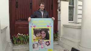 Well wishers leave flowers for Nazanin Zaghari-Ratcliffe at Iranian Embassy in London [Video]