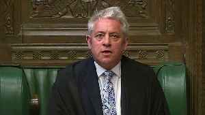 Speaker John Bercow selects four motions to be voted on [Video]