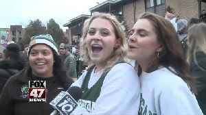 Fans flock to campus to celebrate MSU's win over Duke [Video]