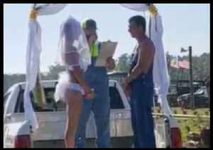 Florida Bride Wears White Bikini to Wedding Before Rolling in Mud With New Husband [Video]