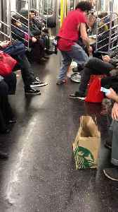 Subway magician pulls out live pigeon from his pocket, loud noise [Video]