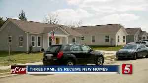 3 families receive new homes through Habitat for Humanity [Video]