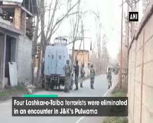 4 terrorists gunned down in JK Pulwama search operation underway [Video]
